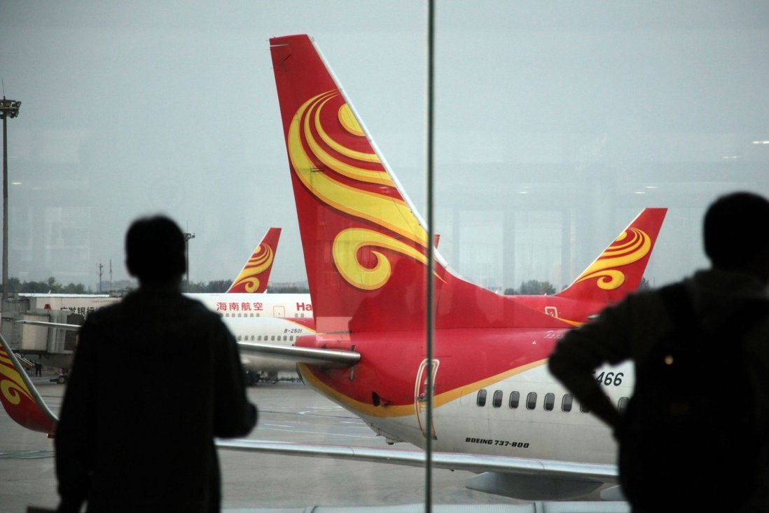 Hainan Airlines said its expects to post massive losses because of problems at parent HNA Group. Photo: AFP